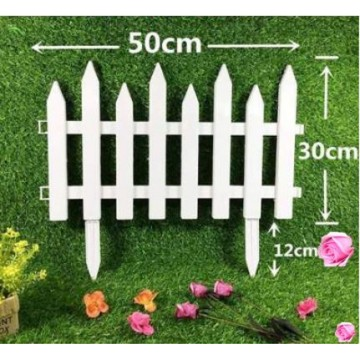 Mini White Picket Fence For Garden (2 Design )
