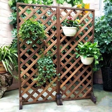 Wooden Plant Mesh Diamond Flower Stand & Plant Rack Indoor Decoration Hanging Plant Stand Outdoor Flower Ladder Display Rack, 4 Sizes