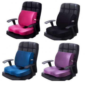 Chair cushion Back support cushion/back rest★Memory Foam 3D car seat ★ Relieves Tension Back Support (4 Colors)