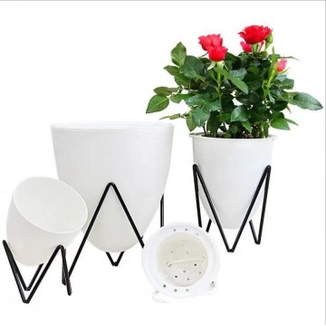 Self Watering Planter,Plastic Flower Pots for Indoor Outdoor Plant-No Plant is Included