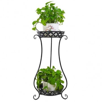 2 Levels Metal Plant Stand/Plant Rack for garden balcony Home outdoor indoor