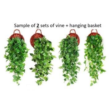 Artificial Plant Vines Leaves Cascading Drape flowers plants