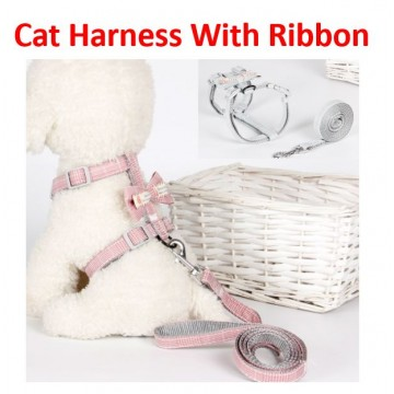 Cat Harness With Ribbon