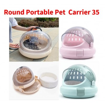 Round Portable Cat Carrier 35