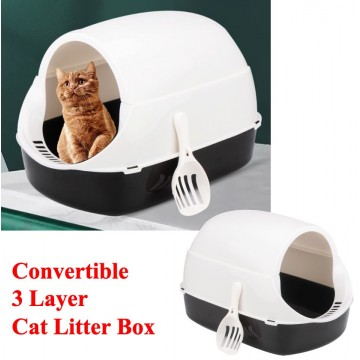 3 Layer Litter Box Grey (NO DOOR)