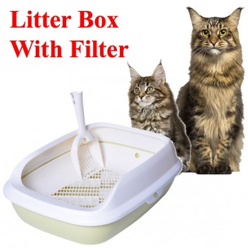Litter Box with Filter ( Green)
