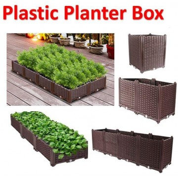 Plastic Planter Box Home Balcony Plastic Flower Pot Indoor Vegetable Planting Box