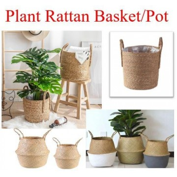 plant natural basket round basket /Pot