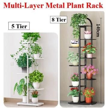 Multi-Layer Metal Plant Rack 5 Tier & 8 Tier