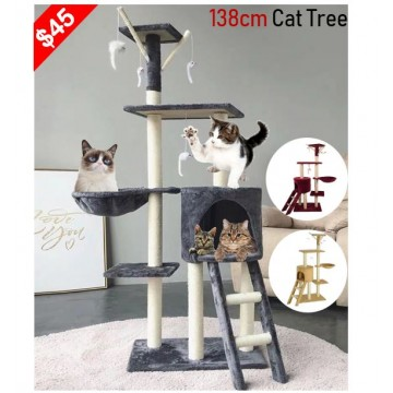 1.38m Cat scratching condo