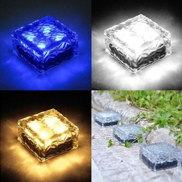 Frosted Cubes Decor Solar Light