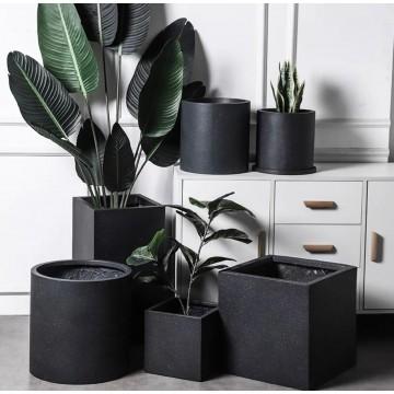 [READY STOCK] Black Pure Cement Planter Pot