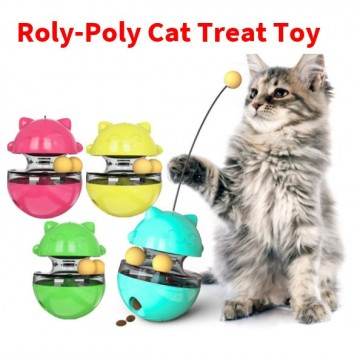 Roly-Poly Cat Treat Toy