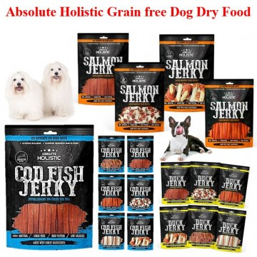 Absolute Holistic GrainFree Jerky Dog Food 100g