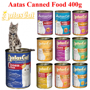 Aatas Cat Canned Food 400g Wet Canned Food Cat Food