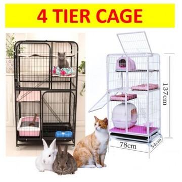 4 Tier Big Cat cage parrot chinchillas rabbit cage