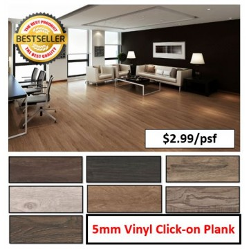 5mm Thickness Vinyl Click-on Planking