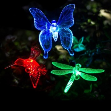 LED Night Rainbow Solar Plant Light