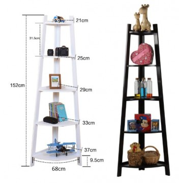 Shelf Industrial Corner Bookcase and Shelf ( 2 colors)