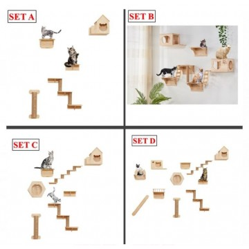Wall Mount Cat Condo Set