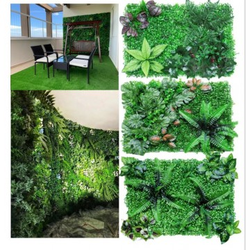 Artificial Plant Wall Feature Deco Interior Flower Grass Leaves Garden Gardening Home