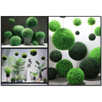 Artificial Topiary Plant Grass Ball Outdoor Indoor Decoration Hanging Shopping Center Home Office