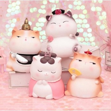 [ Gong Ting Mao] Cute Cat Figurine Figure Ornament Gift Home Decor