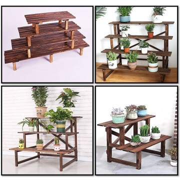 Wooden Bench Plant Bench Wooden Plant Rack Wooden Plant Stand