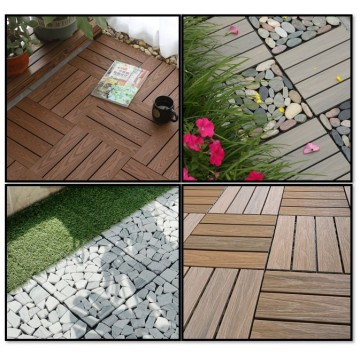 DIY Decking Wood/Stone (Decking Tiles- No Fixings Required)