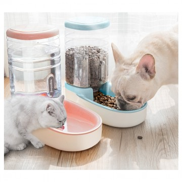 [3.8L AUTO FEEDER]Auto Feeder Elevated Ceramic Twin Double Cat Dog Pet Water Feeder Food Feeder Bowl