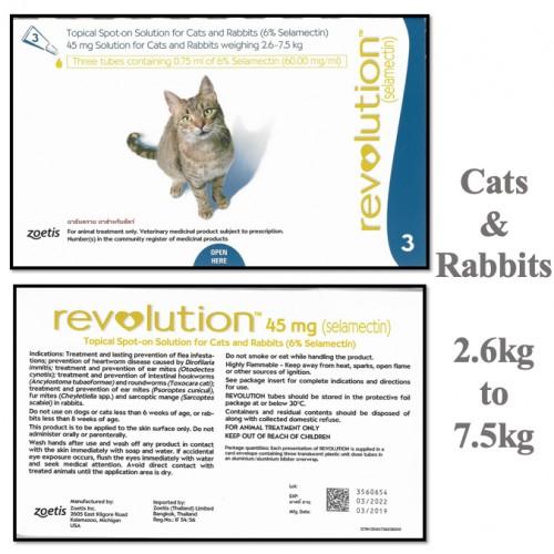 Pet Anti Flea Revolution Anti Flea Anti Ear Mites Vet Pet Cat Dog Puppy Kitten Rabbit