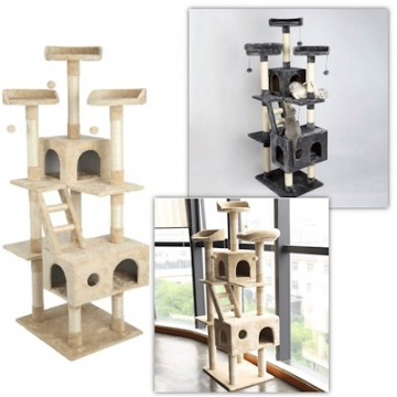 1.8m XL Cat Condo Scratching Tree