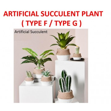 [SMALL ARTIFICIAL PLANT]Artificial Succulent Plant Flower With Pot Indoor Outdoor Gardening table