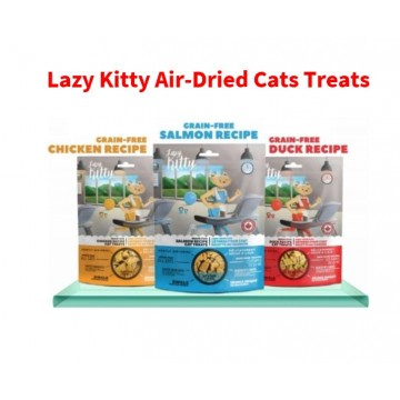 2 packs Lazy Kitty Air-Dried Cats Treats ( 3 Flavours)