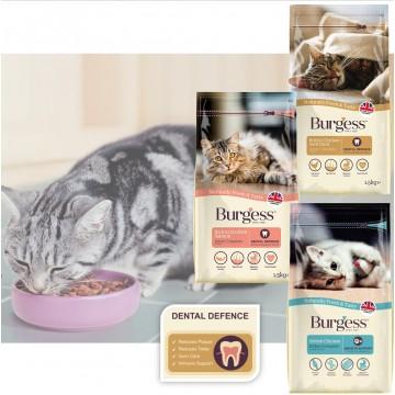 Burgess Cat Dry Kibbles Cat Food 1.5kg