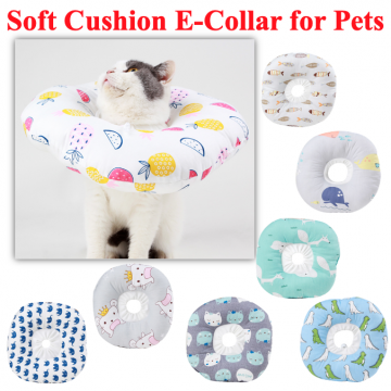 [E COLLAR SOFT CUSHION] Neck Vet pet Medical Cat Dog Rabbits Small Animals E collar surgery