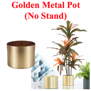 [GOLDEN POT NO STAND] Gold Planter Interior Design Premium Nice Looking Unique