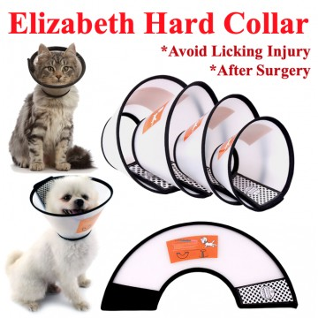 [COLLAR] Medical Vet Collar Pet Cat Dog Hard Elizabeth Velcro