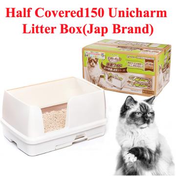 [HALF COVERED150 LITTER BOX] Unicharm Famous Toilet Litter Box Japanese Brand