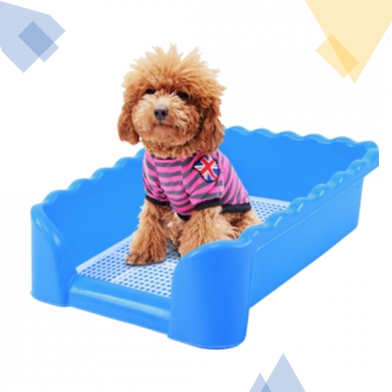[HALF COVERED PEE TRAY]Half Covered Plastic with Pole / Puppy Toilet / Training Potty / Pets Toilet/Pee Pad