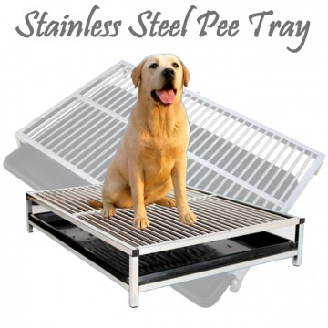 100 % Stainless Steel Pee Tray Dog Toilet Metal Potty Puppy Holder XL Big Size