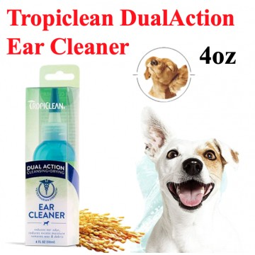 [TROPICLEAN DUAL ACTION] Ear Cleaner Pet Dog Cat Kitten Over 12 months