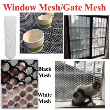 [WINDOW MESH/GATE MESH] Multi-purpose Black White Plastic Net Window Mesh Net Plastic Mesh Balcony