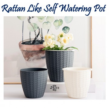 Rattan-Liked Self Watering Pot