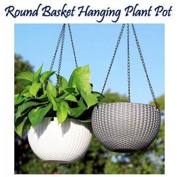 Round Basket Hanging Plant Pot