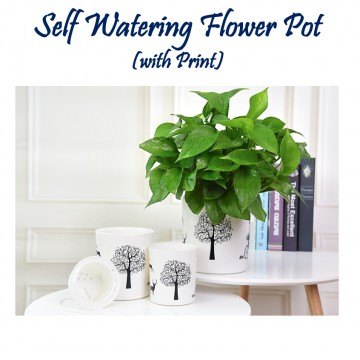 Self Watering Flower Pot(with Print)