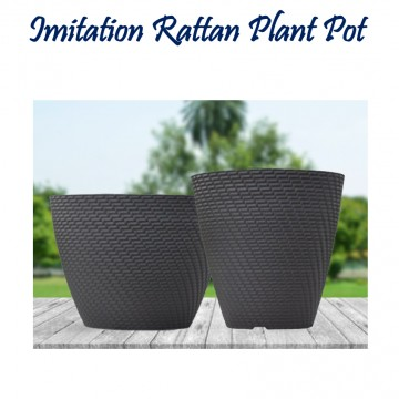 Imitation Rattan Flower Pot