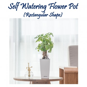 Self Watering Flower Pot (Rectangular Shape)