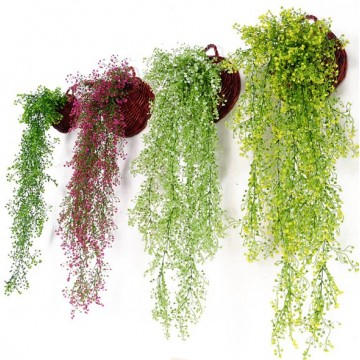 Artificial Plant Vines Leaves Cascading Drape flowers plants outdoor indoor balcony event gardening
