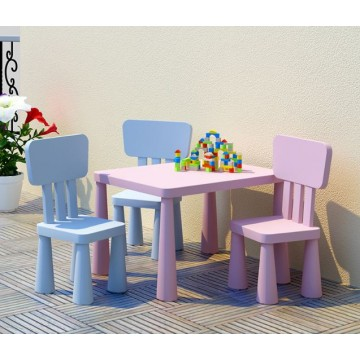 Colourful plastic children table & chair For kids